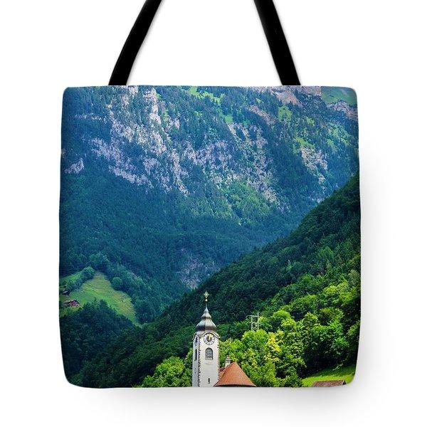 Mountainside Church Tote Bag