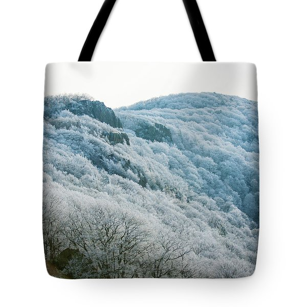Mountainside Hoarfrost Tote Bag