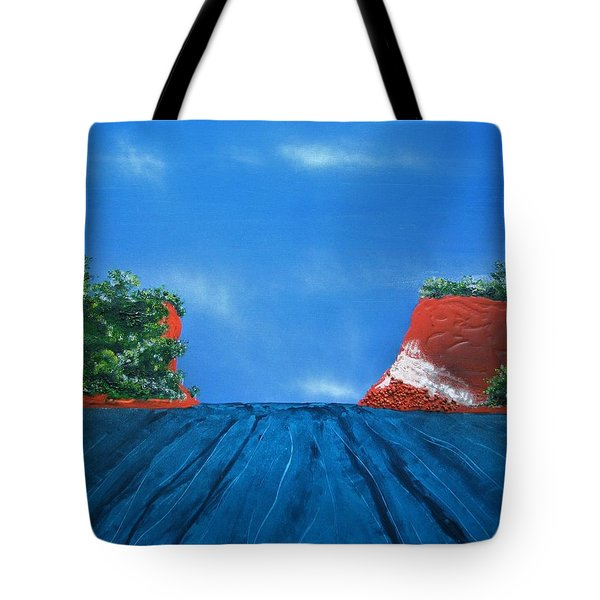 Mouth Of The Hay River Tote Bag