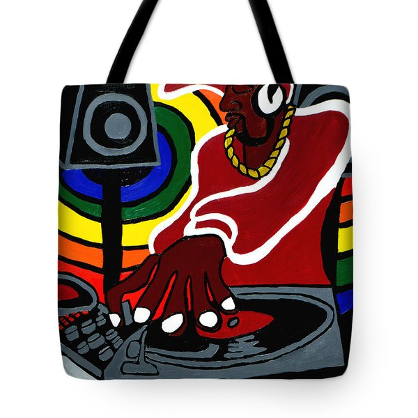 Tote Bag featuring the painting Move The Crowd by Christopher Farris