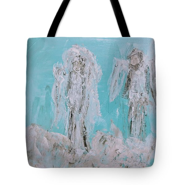 Mr And Mrs Angels Tote Bag