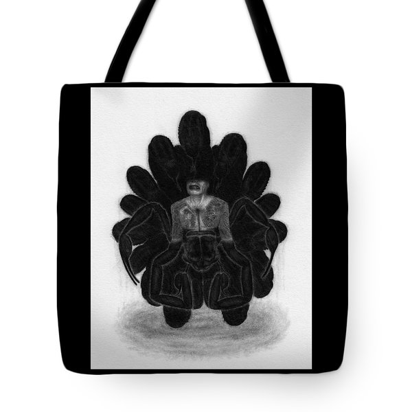 Tote Bag featuring the drawing Mr Death - Artwork by Ryan Nieves