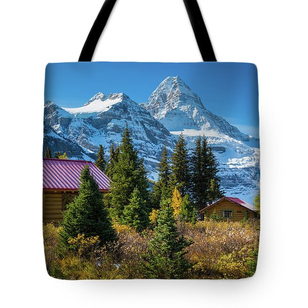 Mt Assiniboine And Cabins Tote Bag