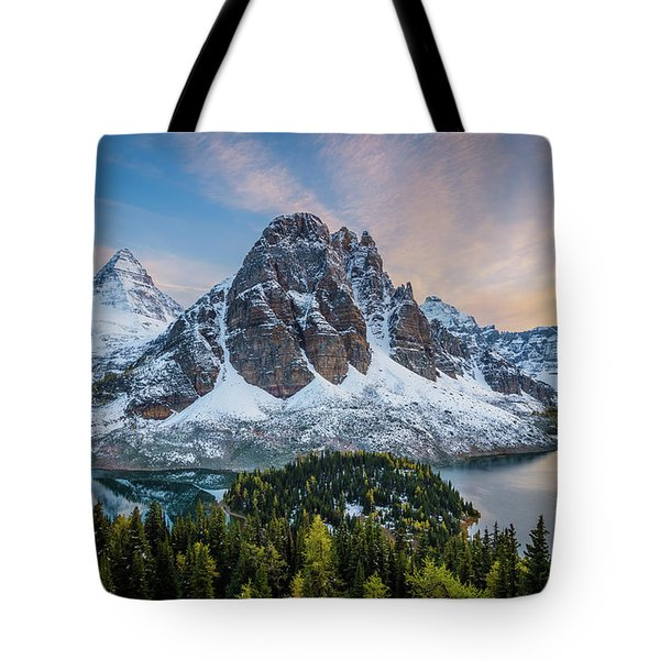 Mt Assinniboine Sunset Tote Bag