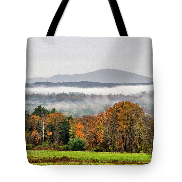 Tote Bag featuring the photograph Mt. Kearsage Foggy View by Betty Pauwels