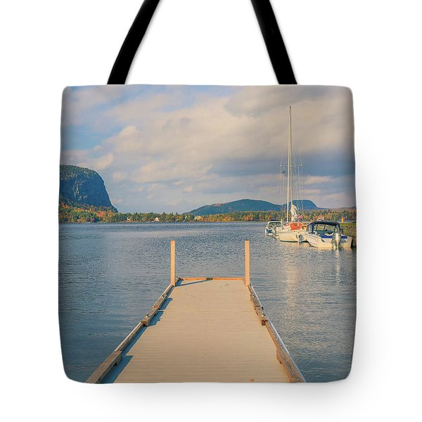 Mt Kineo Dock On Moosehead Lake Tote Bag