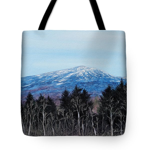 Mt. Monadnock Spring Snow Tote Bag