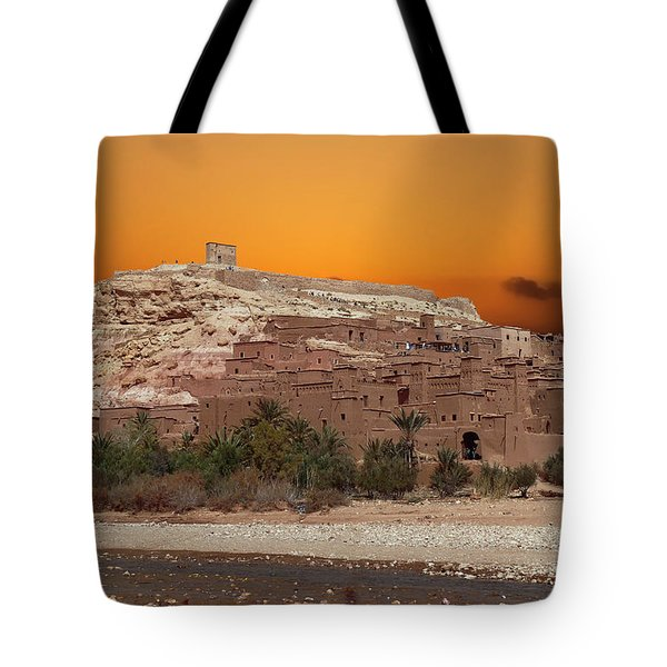 Mud Brick Buildings Of The Ait Ben Haddou Tote Bag