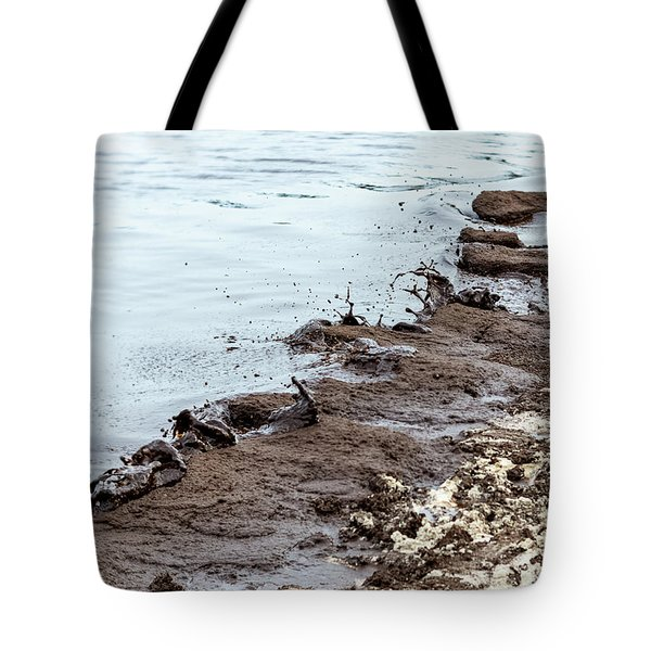 Muddy Sea Shore Tote Bag