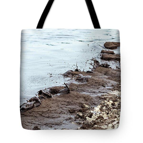 Muddy Sea Shore Tote Bag