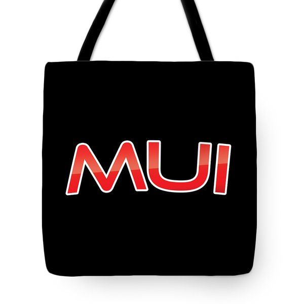 Tote Bag featuring the digital art Mui by TintoDesigns