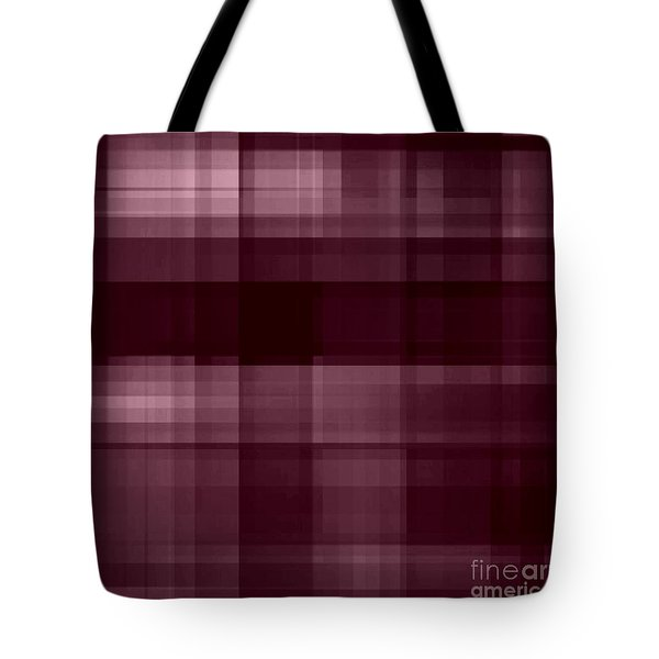 Tote Bag featuring the digital art Mulberry Plaid by Rachel Hannah