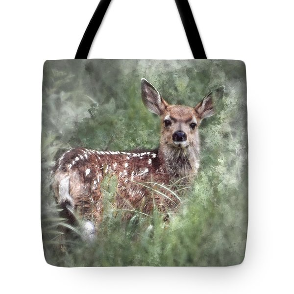 Tote Bag featuring the photograph Mule Deer Fawn by Brad Allen Fine Art