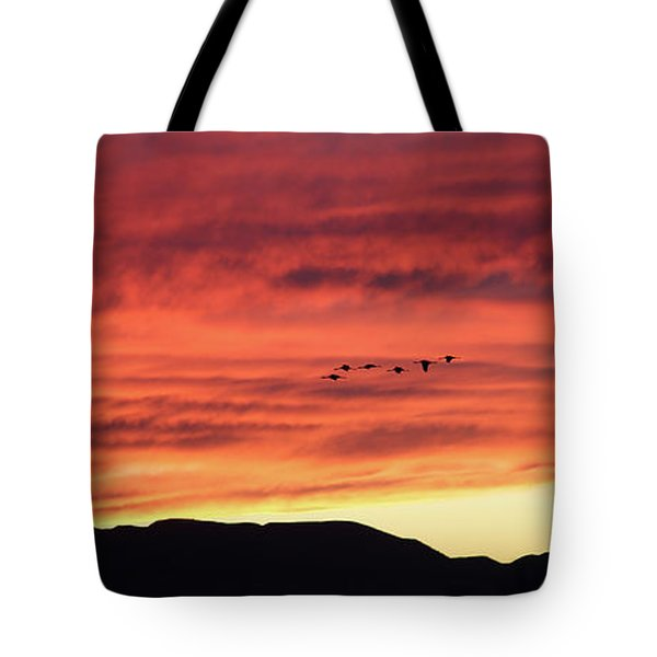 Mule Mountains Sunset Tote Bag