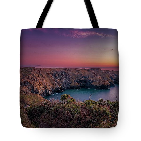 Mullion Cove Cornwall Sunset Tote Bag