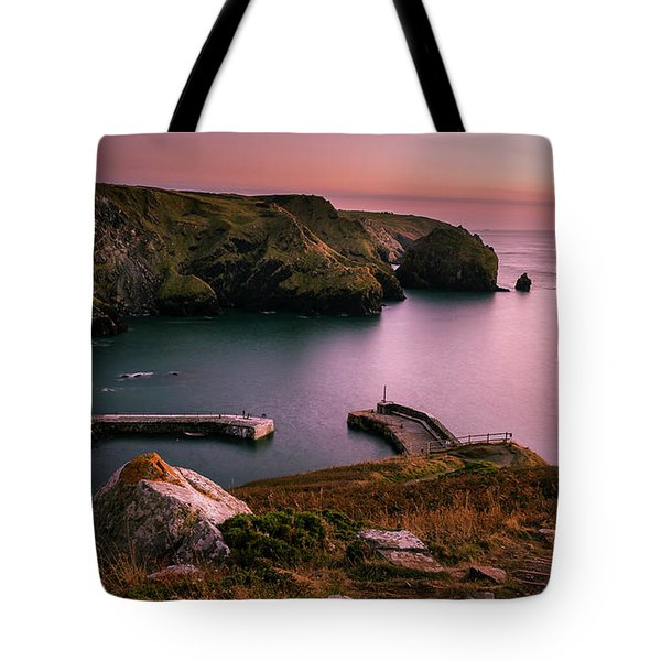 Mullion Cove Sunset - Cornwall General View Tote Bag