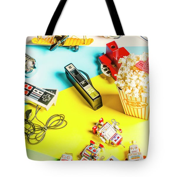 Multicolour Memorabilia Tote Bag