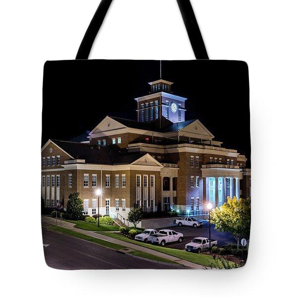 Municipal Center At Night - North Augusta Sc Tote Bag