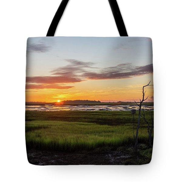 Murrells Inlet Sunrise - August 4 2019 Tote Bag