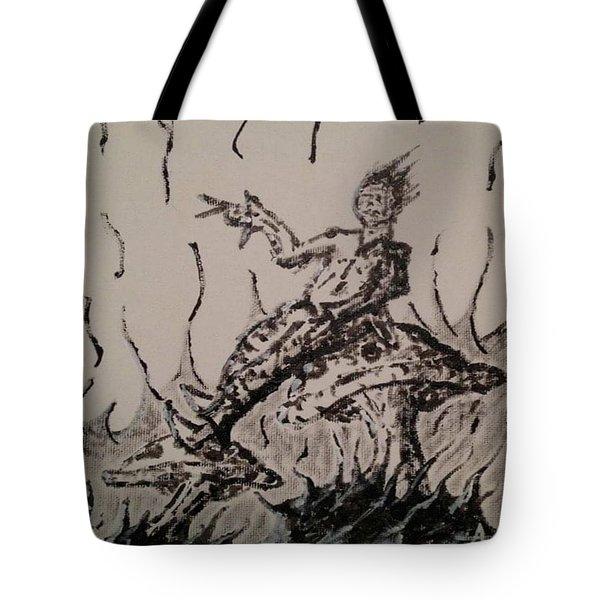 Mushroom Man Tote Bag