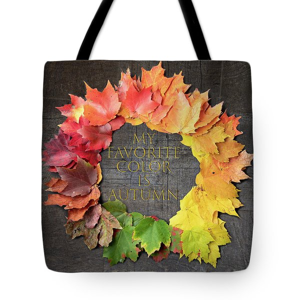 Tote Bag featuring the photograph My Favorite Color Is Autumn by Jeff Folger