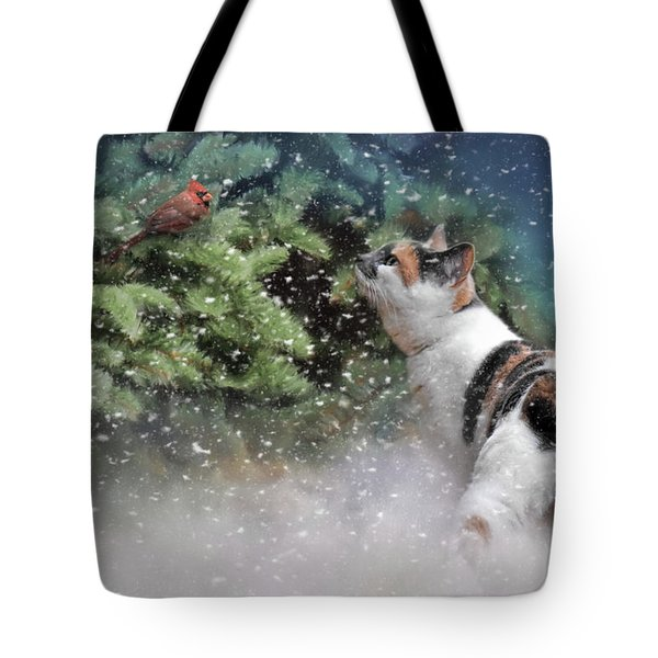 Tote Bag featuring the photograph My Favorite Color Ornament Is Red by Jai Johnson