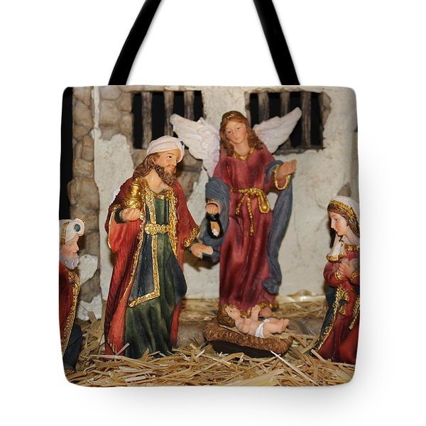 My German Traditions - Christmas Nativity Scene Tote Bag