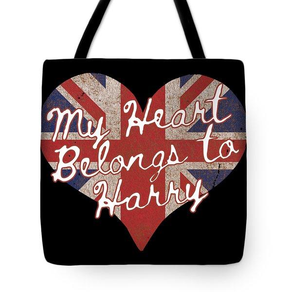My Heart Belongs To Prince Harry Tote Bag