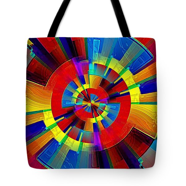 Tote Bag featuring the digital art My Radar In Color by David Manlove