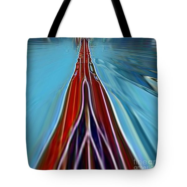 Tote Bag featuring the painting My Way by A zakaria Mami