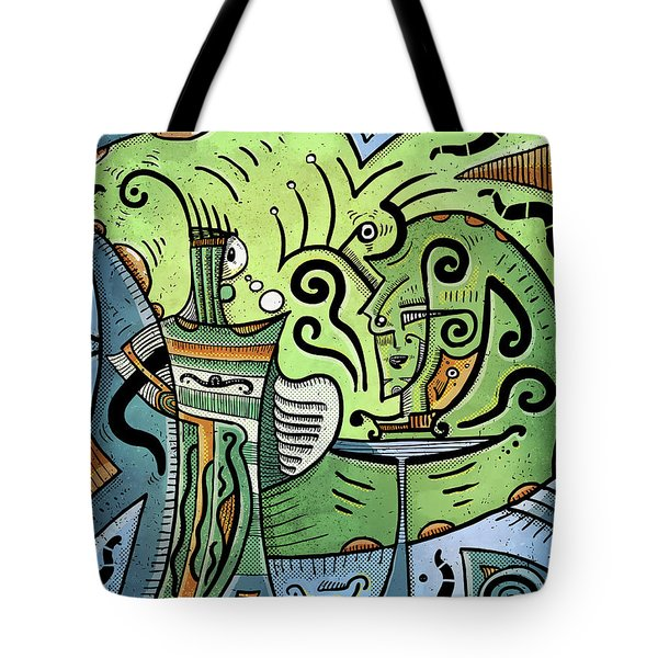 Tote Bag featuring the painting Mystical Powers by Sotuland Art