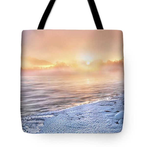 Tote Bag featuring the photograph Mystical Winter Morning by Leland D Howard