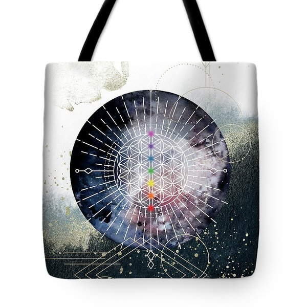 Tote Bag featuring the digital art Namaste by Bee-Bee Deigner