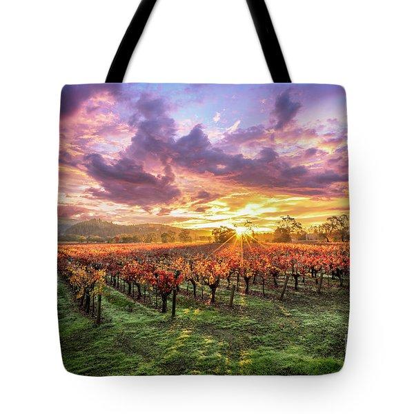 Napa Sunrise Tote Bag