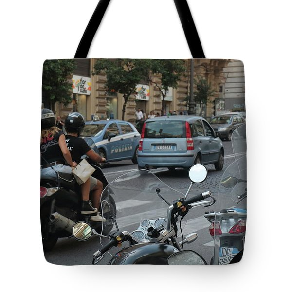 Naples Street Buzz Tote Bag