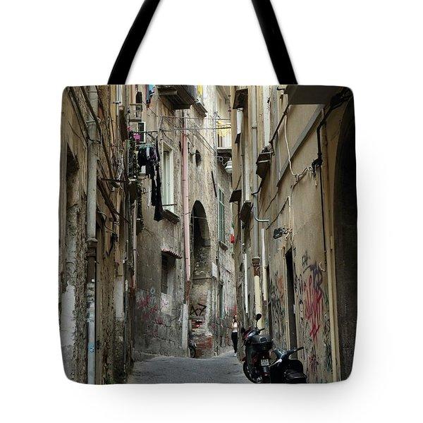 Naples Street Tote Bag
