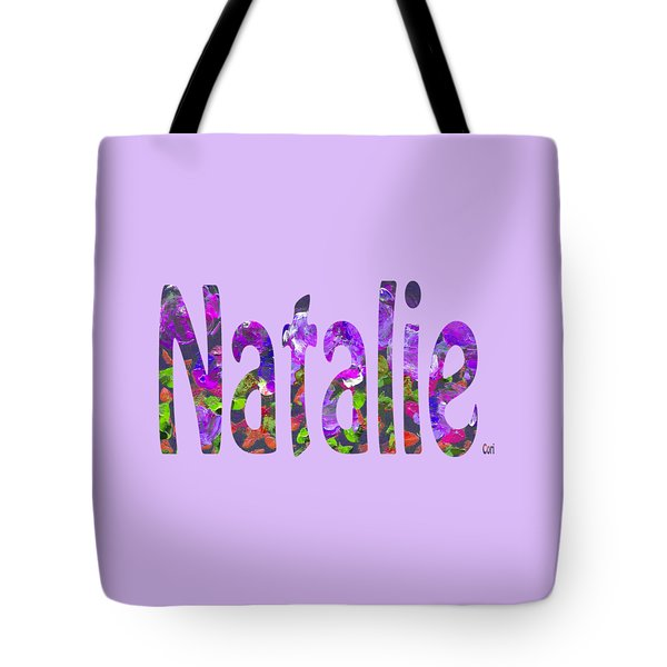 Tote Bag featuring the digital art Natalie by Corinne Carroll