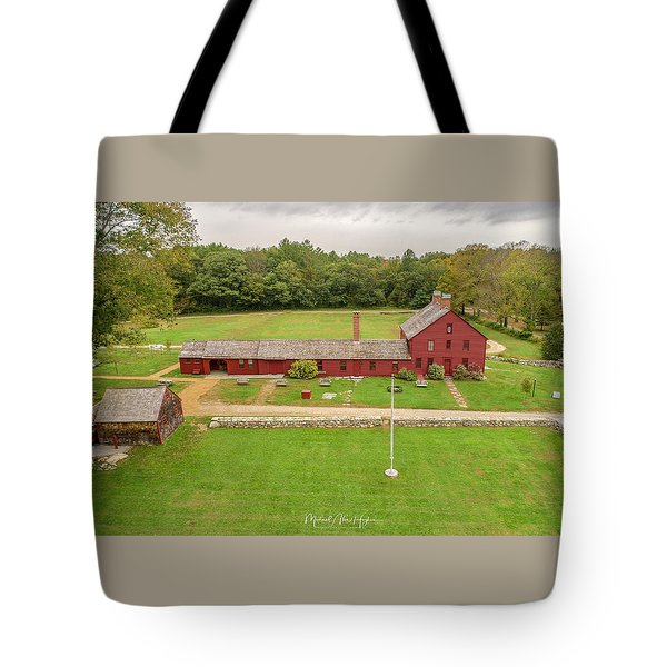 Tote Bag featuring the photograph Nathan Hale Homesead by Michael Hughes