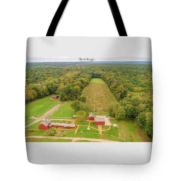 Tote Bag featuring the photograph Nathan Hale Homestead by Michael Hughes
