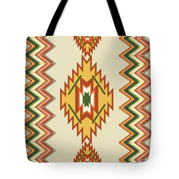 Native American Rug Tote Bag
