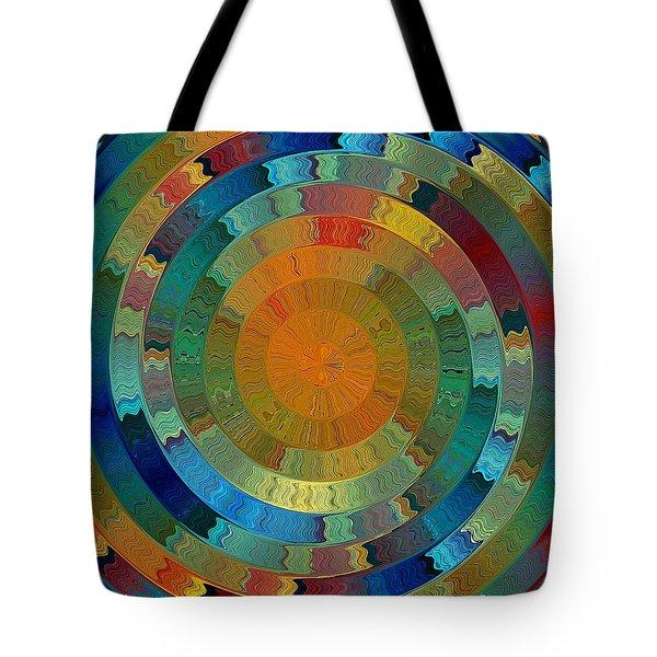 Tote Bag featuring the digital art Native Sun by David Manlove