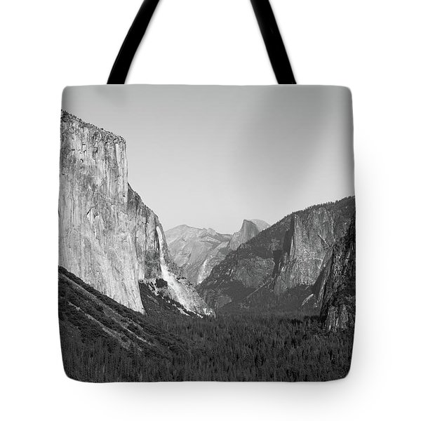 Nature At Its Best - Black-white Tote Bag