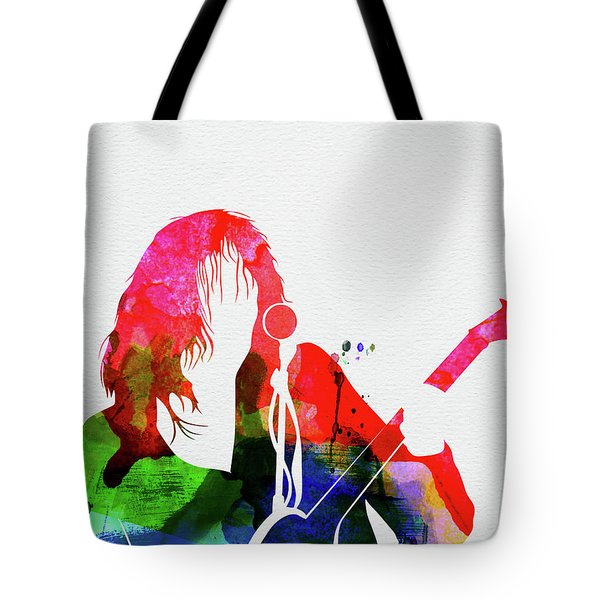 Neil Young Watercolor Tote Bag