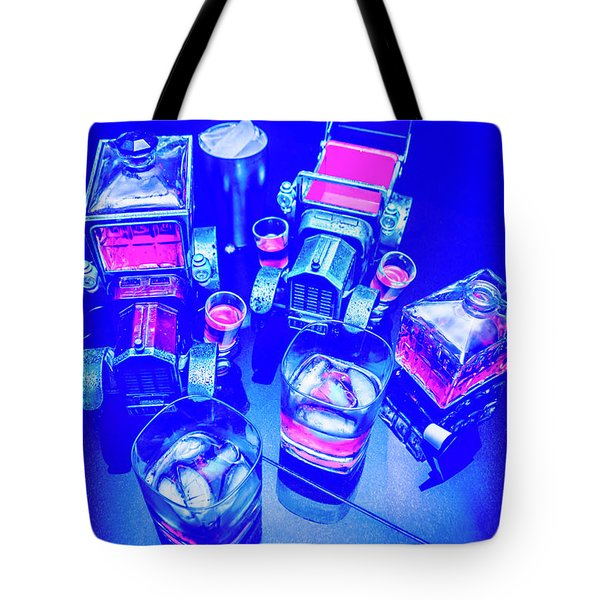 Neon Bar Tote Bag