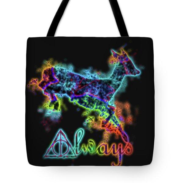 Neon Harry Potter Always Tote Bag