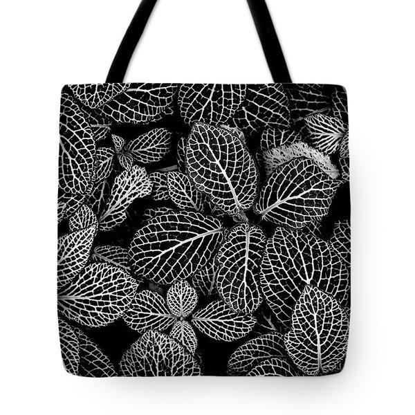 Nerve Plant Leaves Pattern Tote Bag