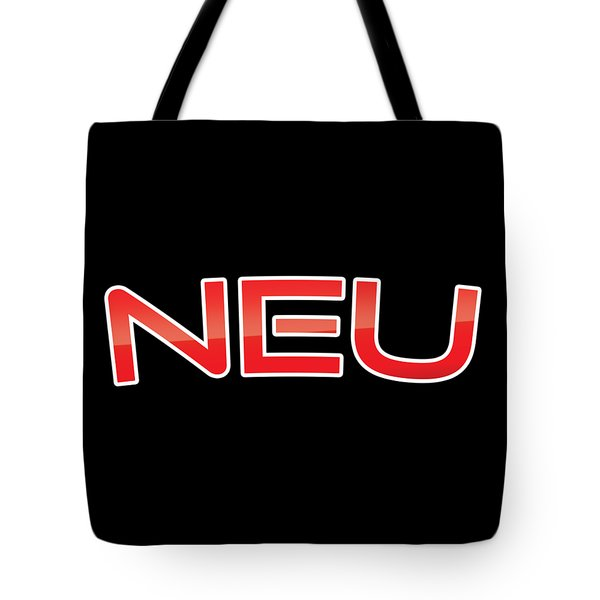 Tote Bag featuring the digital art Neu by TintoDesigns