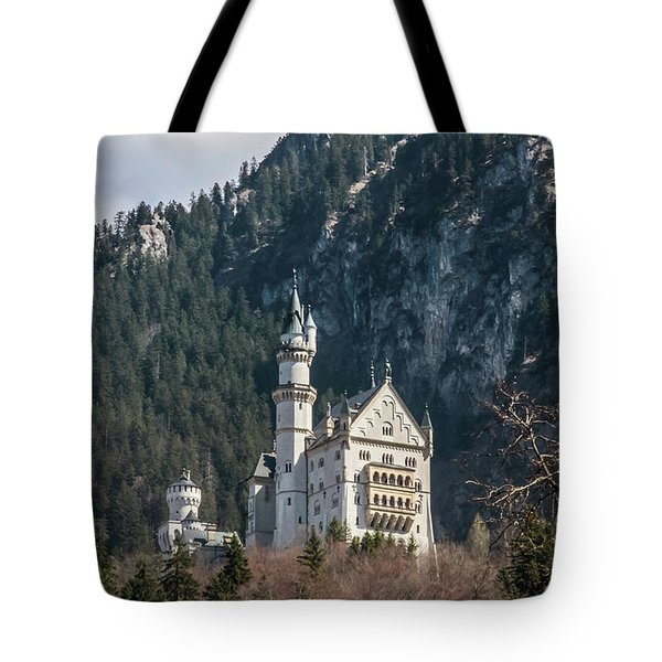 Neuschwanstein Castle On The Hill 2 Tote Bag