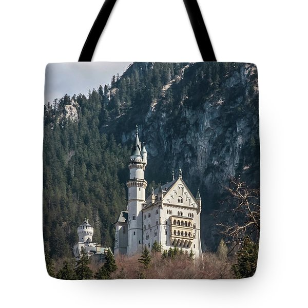 Tote Bag featuring the photograph Neuschwanstein Castle On The Hill 2 by Dawn Richards