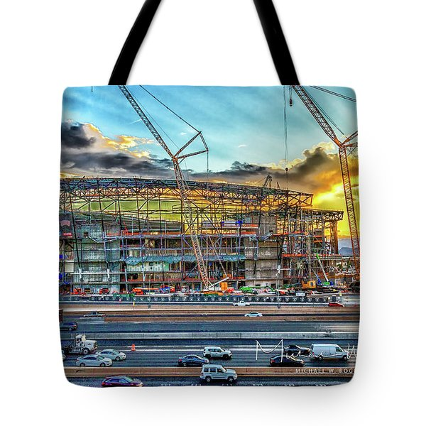 Tote Bag featuring the photograph New Home For Las Vegas Raiders by Michael Rogers